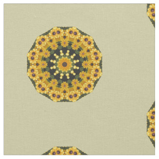 Black-eyed Susans, Flower mandala Fabric