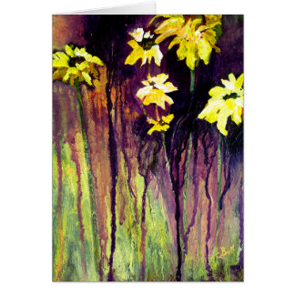 Black Eyed Susans Flowers Card