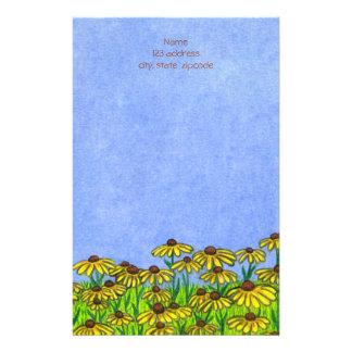 Black Eyed Susans Flowers ~Letterhead Paper Stationery Paper