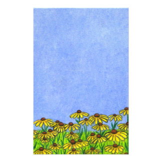 Black Eyed Susans Flowers ~Stationery Paper Stationery Paper