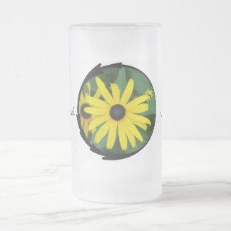 Black-Eyed Susans Frosted Glass Mug