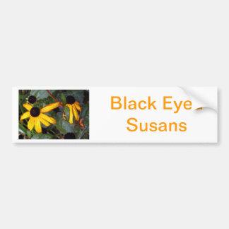 Black Eyed Susans - last of summer Bumper Sticker
