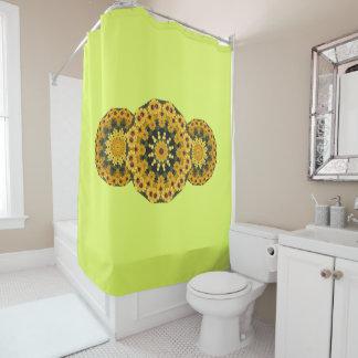 Black-eyed Susans Nature 2.0, Flower-Mandala Shower Curtain