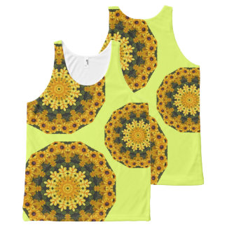 Black-eyed Susans Nature, Flower-Mandala All-Over Print Tank Top