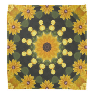 Black-eyed Susans Nature, Flower-Mandala Bandana