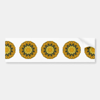 Black-eyed Susans Nature, Flower-Mandala Bumper Sticker