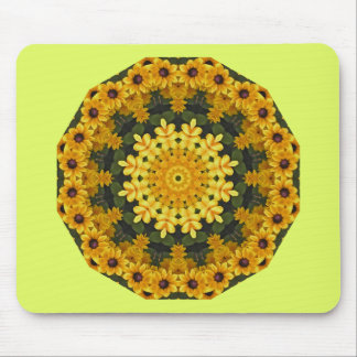 Black-eyed Susans Nature, Flower-Mandala Mouse Mat