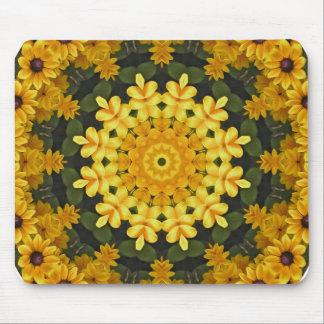 Black-eyed Susans Nature, Flower-Mandala Mouse Pad
