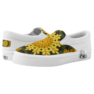 Black-eyed Susans Nature, Flower-Mandala Printed Shoes