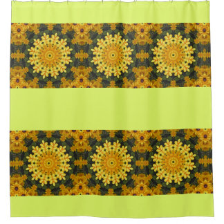Black-eyed Susans Nature, Flower-Mandala Shower Curtain