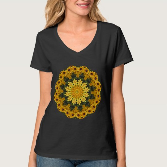 Black-eyed Susans Nature, Flower-Mandala T-Shirt