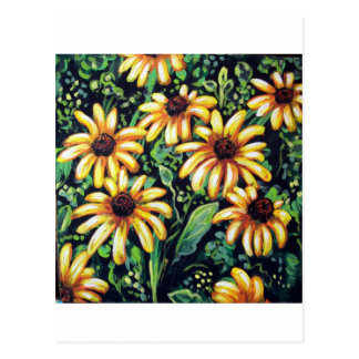 BLACK EYED SUSANS POSTCARD