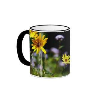Black Eyed Susans & Purple Flora Ringer Mug