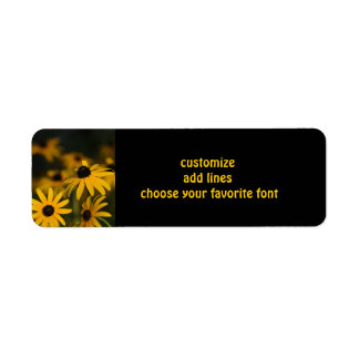 Black eyed Susans Return Address Label