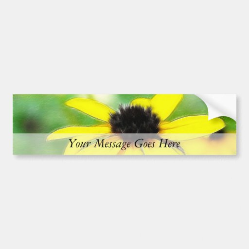 Black Eyed Susans - Romantic and Dreamy Bumper Stickers