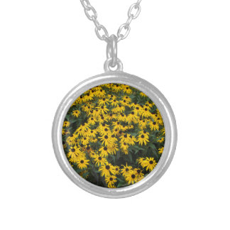 Black-Eyed Susans Silver Plated Necklace