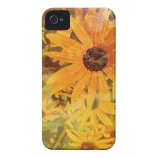 Black Eyed Susan's Wildflower Abstract Design iPhone 4 Case-Mate Case