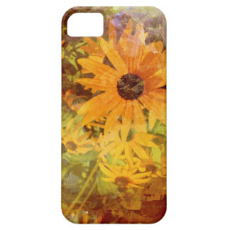 Black Eyed Susan's Wildflower Abstract Design iPhone 5 Case