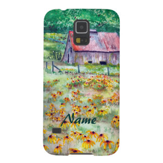 Black-Eyed Susans Wildflower Barn Watercolor Cases For Galaxy S5