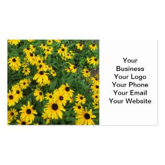 Black Eyed Susans Yellow Green Business Card Template