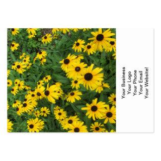 Black Eyed Susans Yellow Green Business Card Templates
