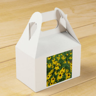 Black Eyed Susans Yellow Green Favour Boxes