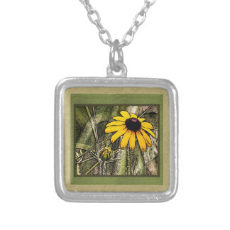 Black eyed Susie Personalized Necklace