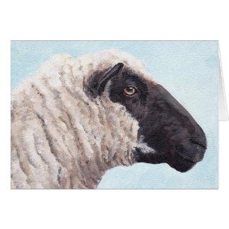 Black Face Sheep II Greeting Card