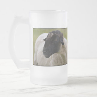 Black Faced Sheep Glass Beer Mugs