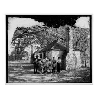 Black family at the Hermitage, Savannah, Ga. c1907 Poster