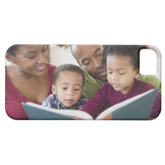Black family reading book together barely there iPhone 5 case