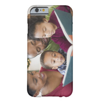 Black family reading book together barely there iPhone 6 case