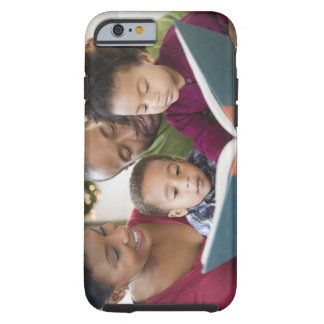 Black family reading book together tough iPhone 6 case