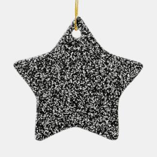 Black Faux Glitter Christmas Ornament
