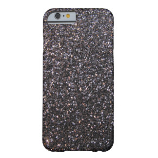 Black faux glitter graphic barely there iPhone 6 case