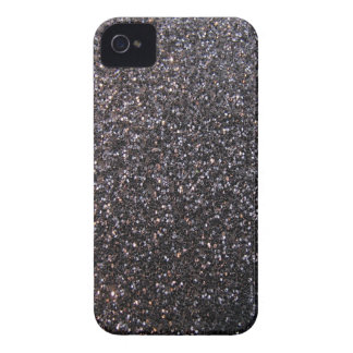 Black faux glitter graphic iPhone 4 covers