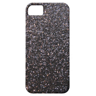 Black faux glitter graphic iPhone 5 cases