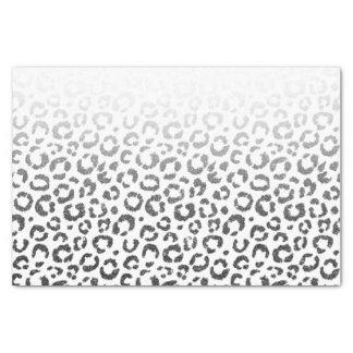 Black Faux Glitter Leopard Print Gradient Tissue Paper
