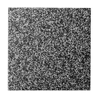 Black Faux Glitter Tile