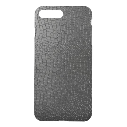Black Faux Leather Snake Skin look Pattern iPhone