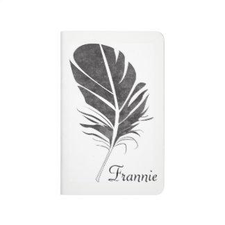 Black Feather Pocket Journal