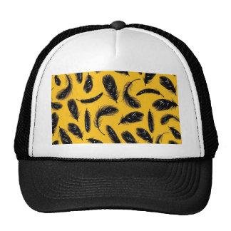 Black feathers mesh hat