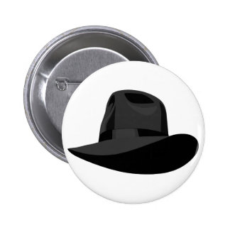 Black Fedora narrow ribbon 6 Cm Round Badge