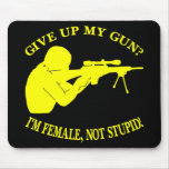 Black Female Gun Not Stupid Mouse Pad