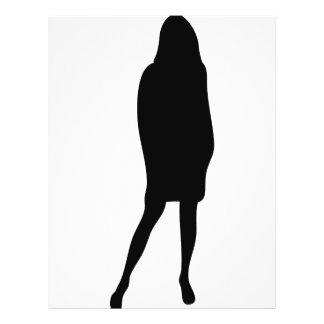 black female silhouette icon full color flyer