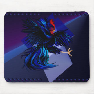 Black Fighting Rooster Mousepad