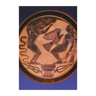 Black figure kylix canvas print