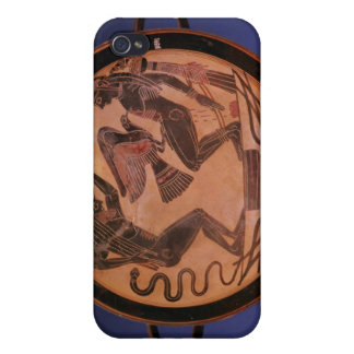 Black figure kylix cover for iPhone 4