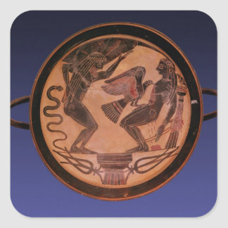 Black figure kylix square sticker