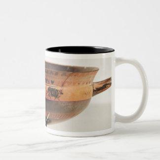 Black figured kylix Two-Tone coffee mug